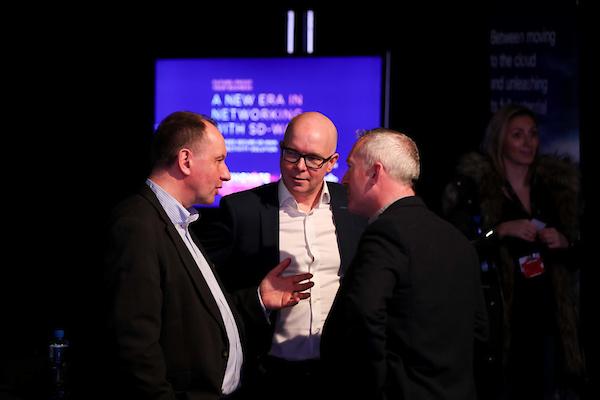 John Conlon and Rod McCarthy Exertis Ireland and Tom Long Cisco