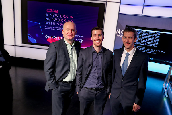 Tony Hanway Virgin Media Jim Hughes and Enda Cahill INNOVATE - The IT Solutions People