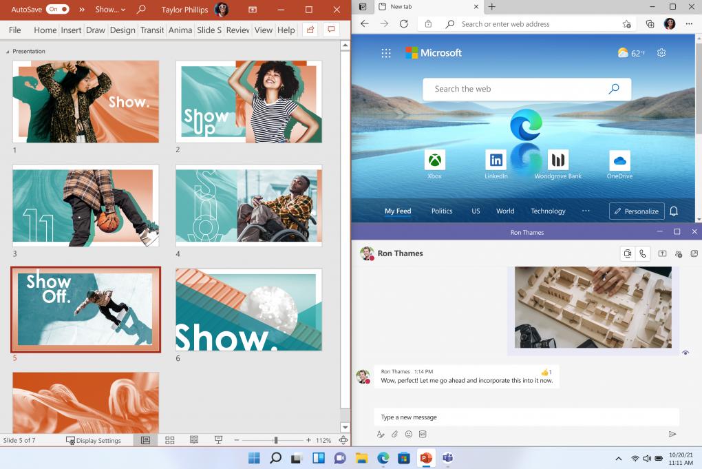Windows 11 snap layout